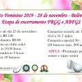TORNEIO DE ENCERRAMENTO 2019: 28 de novembro